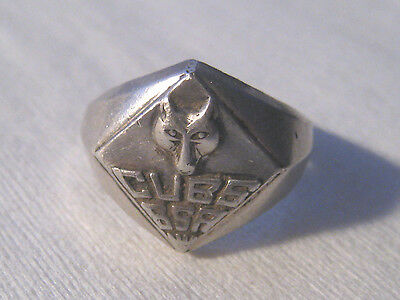 Vintage Sterling Silver CUBS BSA Boy Scouts Of America Ring By Vargas  SZ 4