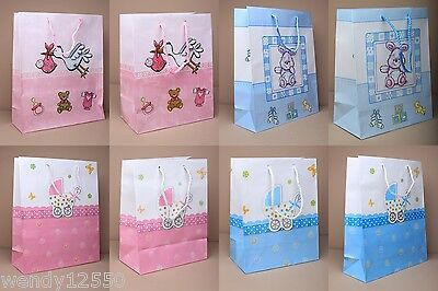 Baby Design Gift Bags: Choose Colour & Quantity Cheapest On Ebay : Wholesale