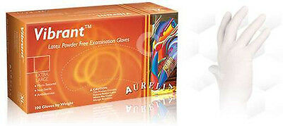 AURELIA VIBRANT Textured Latex Powder Free Examination Exam Gloves -100- Dentist