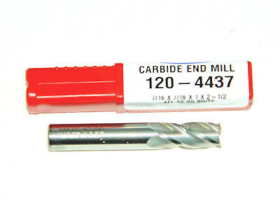 "1//8/"" Carbide 1-1//2 Long Square USA HTC 120-3125 End Mill B11 3 Flute"
