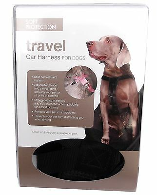 Dog Puppy Car Travel Harness New Soft and Fully Adjustable