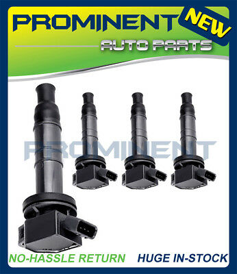 Set of 4 Ignition Coils for 01-12 RAV4 Camry HS250H TC Toyota C1330 UF333 4 Pins