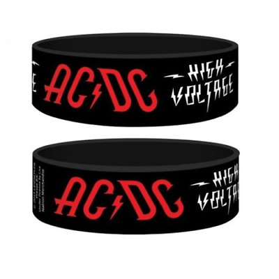 *NEW* AC/DC (High Voltage) Silicon / Rubber Wristband BY PYRAMID