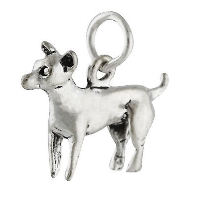 CHIHUAHUA DOG BREED 3D .925 Solid Sterling Silver Charm Pendant MADE IN USA