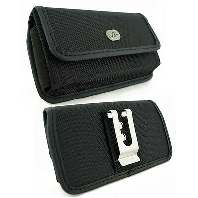 Rugged Canvas Belt Clip Case for Cell Phones COMPATIBLE WITH Otterbox Commuter