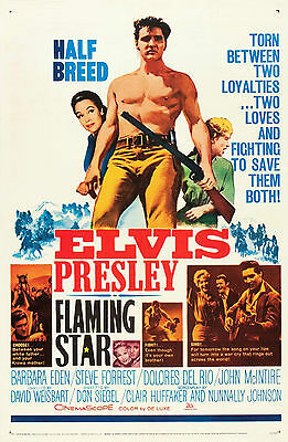 """FLAMING STAR"" ELVIS PRESLEY  Vintage Movie Poster A1A2A3A4Sizes"