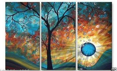 BEAUTIFUL MODERN ABSTRACT HUGE LARGE CANVAS ART OIL PAINTING X