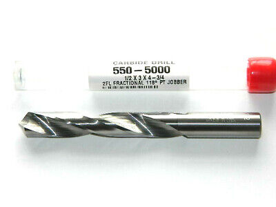 """2 STERLING #57 number x 1-1//2/"""" Solid Carbide Jobber Length Twist Drill bits USA"""