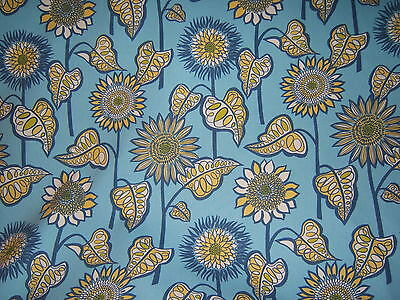 SCHUMACHER/WAVERLY, FARMER'S MARKET FLORAL, SCREEN PRINT, COLOR BLUE JAY, FABRIC