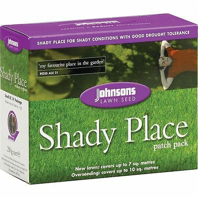 Johnsons Shady Place Grass Lawn Seed 250G / Cover 10 Sqm - Patch Repair Pack
