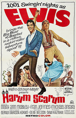 """""""HARUM SCARUM """"   ELVIS PRESLEY .Classic Movie Poster A1A2A3A4 Sizes"""