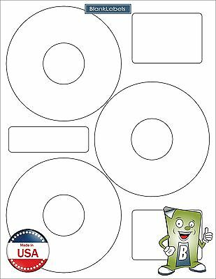 30 CD DVD Disk Laser / Ink Jet Labels Compatible Neato CLP-192301. 10 Sheets 3up