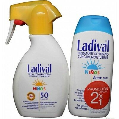 Ladival Fotoprotector Spray 50+ Niños 200 ml + Aftersun Regalo. Pieles Atópicas.