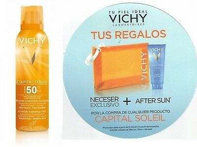 Nuevo Fotoprotector Vichy Bruma Invisible Spray Spf50 + Regalo Neceser Aftersun
