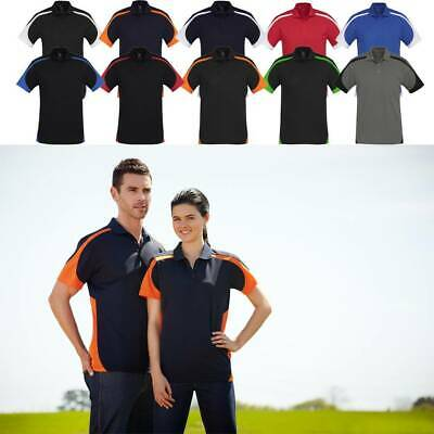 Mens Talon Polo Shirt Top Sports WORK Breathable Contrast Club Size S-5XL P401MS