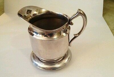 Vintage EPNS Poole Silver Co. Silverplated Water Pitcher with Stand