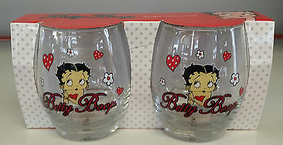 Betty Boop 2 Pack Scotch Glass Set Genuine Licensed Products