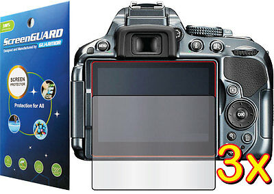 3x Clear LCD Screen Protector Film Camera Nikon Digital D-SLR D5300 D5500 D5600