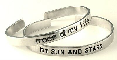 My Sun and Stars - Moon of My Life - Game of Thrones - Aluminum Bracelet SET