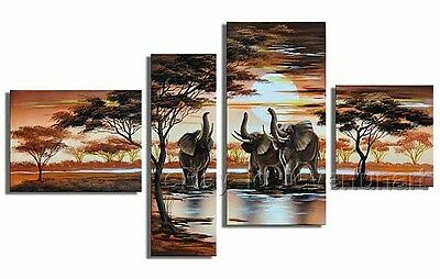 Hand-painted Wall Decor Modern African Art Landscape Oil Painting On Canvas x