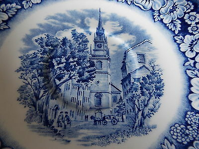 Vintage Antique Collectable Retro Liberty Blue Old North Church Display Saucer