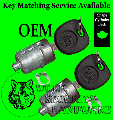 Chevy GM OEM Door Key Lock Cylinder Pair 2 Keys 702912 Key Matching Offered