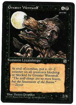 Greater Werewolf - Lupo Mannaro Maggiore 2x carte MAGIC Homelands ENGLISH CARDS