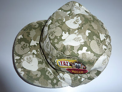 LOONEY TUNES Funky Camouflage TAZ Hello There Cap NWT