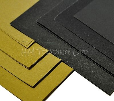 Wet and Dry or Glass Sandpaper Mixed Sheet Set / Sanding Assorted Grits Coarse