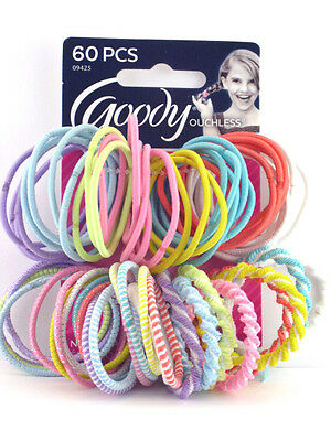 Goody Ouchless Hair Elastics - Light Colors - 60 Pcs. (09425)