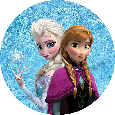 12 Frozen Real Edible Icing Cupcake Image Party Toppers Frosting Sheet