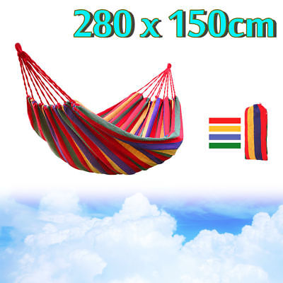 FOR 2 People Cotton Fabric Hammock Air Chair Hanging Swinging Bonus Carrying Bag
