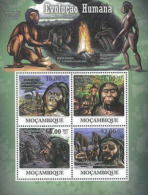 Mozambique 2011 Stamp, MOZ11210A Human Evolution, S/S