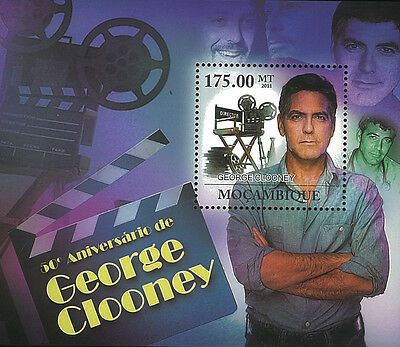 Mozambique 2011 Stamp, MOZ11226D 50th Anniversary of George Clooney,Cinema