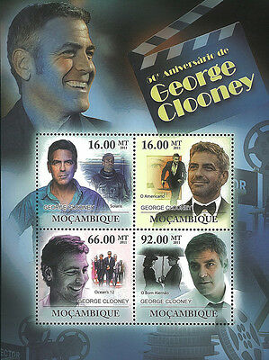 Mozambique 2011 Stamp, MOZ11226C 50th Anniversary of George Clooney,Cinema