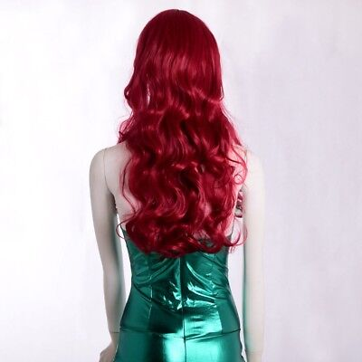 1pc Women Long Heat Resistant Big Spiral Curly Red Wig Masquerad Cosplay