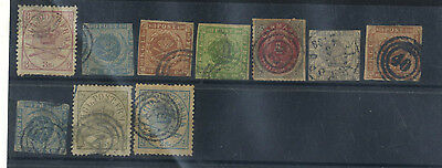 Lot 10 Timbres Anciens Danemark Europe