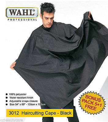 6x Wahl 100% Polyester & Water Resistant Haircutting Salon Cape 3012 (5+1)