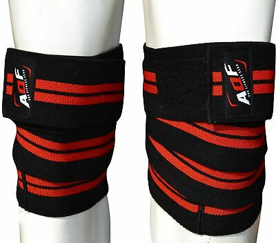"AQF Knee Wraps Weight Lifting Bandage Straps Guard Pads Powerlifting 78"" Pair"