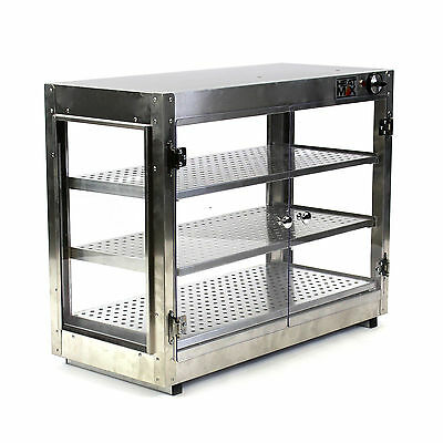 Commercial Countertop Food Warmer Display Case w/ Water Tray 30x15x24