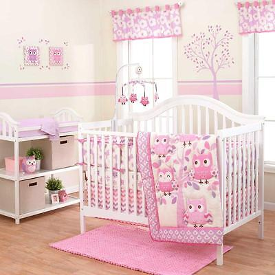 Dancing Owls 3 Piece Baby Crib Bedding Set by Belle