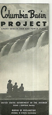 Columbia Basin Project Grand Coulee Dam and Power Plant 1952 Brochure