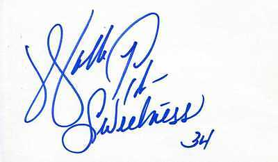 "WALTER PAYTON: Bears Legend Autographed as ""Sweetness"""