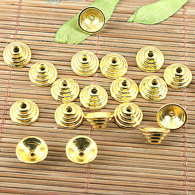 40Pcs gold tone peg-top charms Findings H1668-G