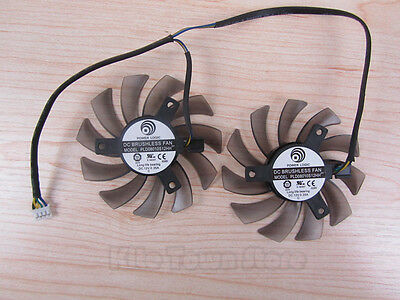 75mm MSI GTX 460 580 R6870 R6950 Twin Frozr II Dual Cooler Fan PLD08010S12HH