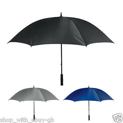 "53"" STORM PROOF Umbrella –  LARGE WINDPROOF Manual Walking Stick Brolly Rain"