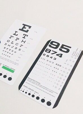 Pocket Eye chart set Snellen + Rosenbaum Pocket Eye Charts - 2 Pieces EC-PSR