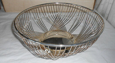FB Rogers silver wire basket, bowl