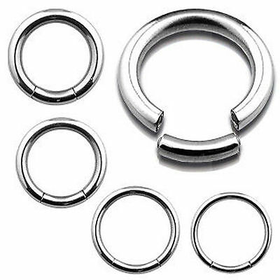Segment Ring 316L Surgical Steel Belly Navel Tragus Eyebrow Nose 1.2mm 1.6mm