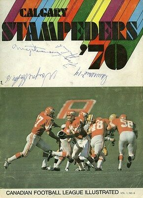 1970 CALGARY STAMPEDERS TEAM SIGNED PROGRAM BY 28 w/DICK SUDERMAN AUTO D.1972
